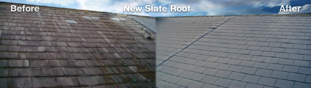 Slate Roof Before and After